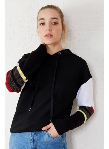 EKA Uzun Kol Kapişonlu Sweatshirt Siyah